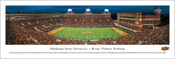 Oklahoma State Football Boone Pickens Stadium Gameday Panoramic Poster - Blakeway Worldwide