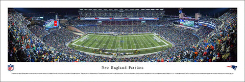 "New England Patriots ""The Comeback"" (2013) Gillette Stadium Panoramic Poster Print - Blakeway"