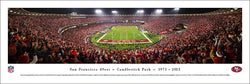 San Francisco 49ers Last Game at Candlestick Park Panoramic Poster Print - Blakeway 2013