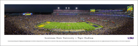 "LSU Tigers Football ""Magnolia Game Night"" Panoramic Poster Print - Blakeway 2014"
