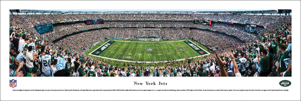 New York Jets MetLife Stadium NFL Gameday Panoramic Poster Print - Blakeway Worldwide