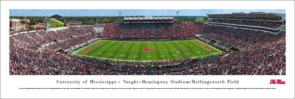 Ole Miss Rebels Football Vaught-Hemingway Stadium Gameday Panoramic Poster Print - Blakeway 2016