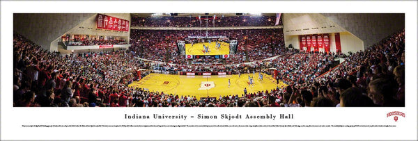 Indiana Hoosiers Simon Skjodt Assembly Hall Game Night Panoramic Poster Print (2016) - Blakeway