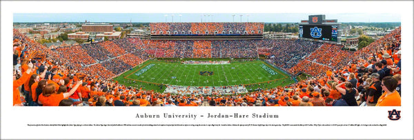 "Auburn Tigers Football ""Stripe Day"" Jordan-Hare Stadium Panoramic Poster Print - Blakeway Worldwide"