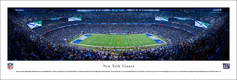 New York Giants MetLife Stadium Game Night Panoramic Poster Print - Blakeway