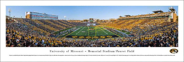 "Missouri Tigers ""Homecoming Stripes"" Faurot Field Panoramic Poster Print - Blakeway"