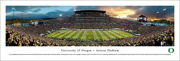 Oregon Ducks Football Autzen Stadium Gameday Panoramic Poster Print - Blakeway