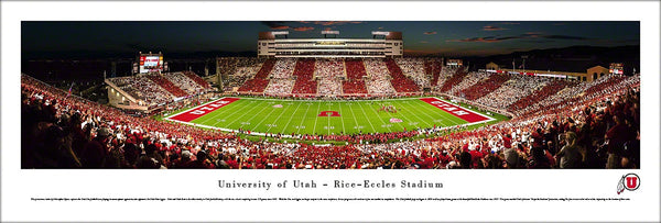 "Utah Utes Football ""Stripe the Stadium"" Rice-Eccles Panoramic Poster - Blakeway 2013"