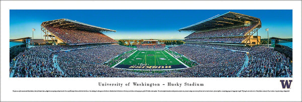 Washington Huskies Football Husky Stadium Gameday Panoramic Poster Print - Blakeway Worldwide