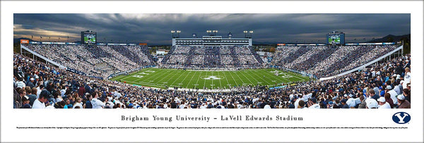 "BYU Cougars Football ""Stripe the Stadium"" Panoramic Poster Print - Blakeway Worldwide"