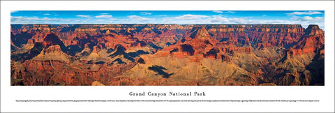 Grand Canyon National Park South Rim View Panoramic Poster Print - Blakeway Worldwide