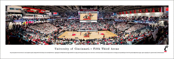 Cincinnati Bearcats Basketball Fifth Third Arena Game Night Panoramic Poster Print - Blakeway Worldwide