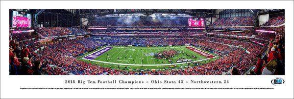 Ohio State Buckeyes 2018 Big 10 Championship Celebration Panoramic Poster Print - Blakeway Worldwide