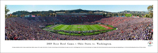 Rose Bowl 2019 (Ohio State vs. Washington) Panoramic Poster Print - Blakeway Worldwide