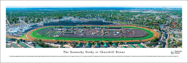 The Kentucky Derby at Churchill Downs Race Day Aerial Panoramic Poster Print - Blakeway
