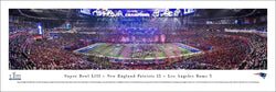New England Patriots Super Bowl LIII (2019) Champions Panoramic Poster Print - Blakeway Worldwide