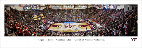 Virginia Tech Basketball Cassell Coliseum Gameday Panoramic Poster Print - Blakeway Worldwide