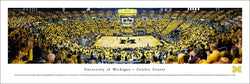 Michigan Wolverines Basketball Crisler Center Gameday Panoramic Poster Print - Blakeway Worldwide