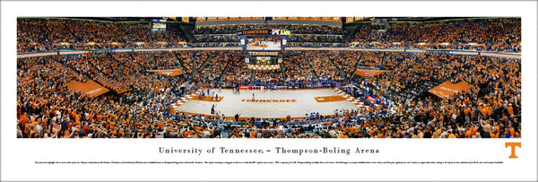 Tennessee Volunteers Basketball Thompson-Boling Arena Gameday Panoramic Poster Print - Blakeway Worldwide