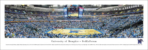 Memphis Tigers Basketball FedEx Forum Game Night Panoramic Poster Print - Blakeway Worldwide