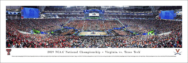 NCAA Men's Basketball 2019 Championship Game (Texas Tech vs. Virginia) Panoramic Poster Print - Blakeway