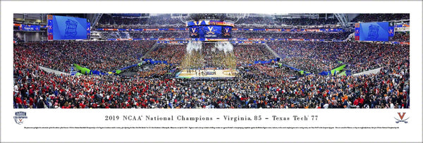 Virginia Cavaliers 2019 NCAA Basketball Champions Panoramic Poster Print - Blakeway Worldwide