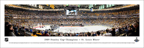 St. Louis Blues 2019 Stanley Cup Champions (Game 7) Panoramic Poster Print - Blakeway