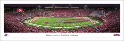 Fresno State University Bulldogs Football Game Night Panoramic Poster Print - Blakeway Worldwide