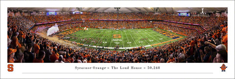 "Syracuse Orange Football ""The Loud House"" Carrier Dome Gameday Panoramic Poster Print - Blakeway 2019"