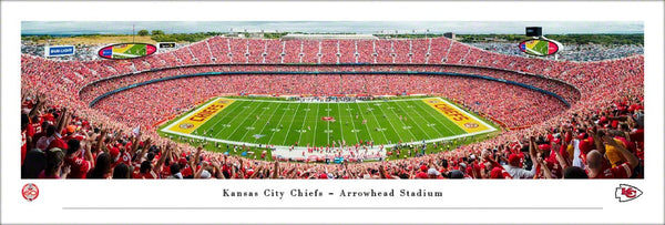 "Kansas City Chiefs ""Touchdown!"" Arrowhead Stadium Gameday Panoramic Poster Print - Blakeway 2019"