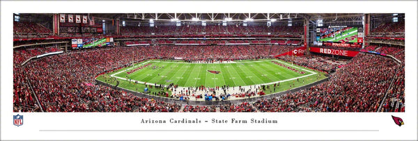 Arizona Cardinals NFL Football Stadium Gameday Panoramic Poster Print - Blakeway Worldwide