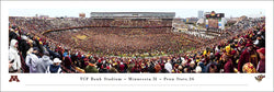 "Minnesota Golden Gophers Football ""Storm the Field"" TCF Bank Stadium Gameday Panoramic Poster - Blakeway 2019"