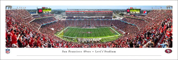 San Francisco 49ers Levi's Stadium Gameday Panoramic Poster Print - Blakeway Worldwide 2019