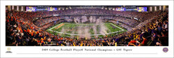 LSU Tigers Football 2019 NCAA Football National Champions Panoramic Poster Print - Blakeway Worldwide