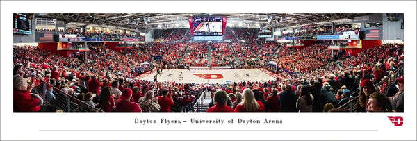 Dayton Flyers Basketball Dayton Arena Game Night Panoramic Poster Print - Blakeway Worldwide