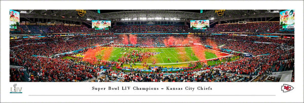 Kansas City Chiefs Super Bowl LIV (2020) Championship Celebration Panoramic Poster Print - Blakeway Worldwide