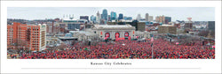 "Kansas City Chiefs ""Celebration Day"" Super Bowl LIV (2020) Champions Panoramic Poster Print - Blakeway Worldwide"