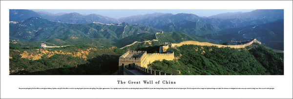 The Great Wall of China Panoramic Poster Print - Blakeway Worldwide