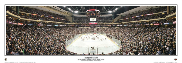 Minnesota Wild Xcel Center Inaugural Game Panoramic Poster Print (2000) - Everlasting Images