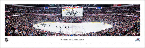 Colorado Avalanche Pepsi Center NHL Game Night Panoramic Poster Print - Blakeway Worldwide