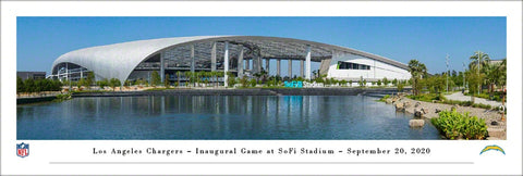 Los Angeles Chargers SoFi Stadium Exterior Panoramic Poster - Blakeway Worldwide 2020