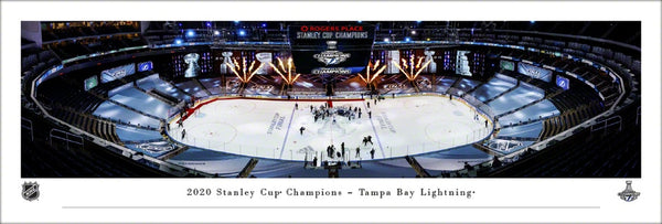 "Tampa Bay Lightning ""Raise The Cup"" 2020 Stanley Cup Champions Panoramic Poster Print - Blakeway"