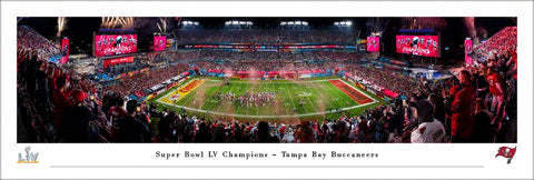 Super Bowl LV Champions - Tampa Bay Buccaneers 2021 Panoramic Posters and Framed Pictures by Blakeway Panoramas