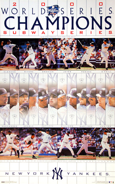 New York Yankees 2000 World Series Champions Commemorative Poster - Costacos Sports