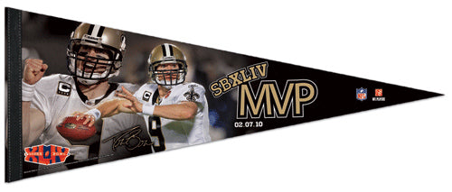 Drew Brees New Orleans Saints Super Bowl XLIV MVP Premium Collector's Pennant (LE /2010) - Wincraft