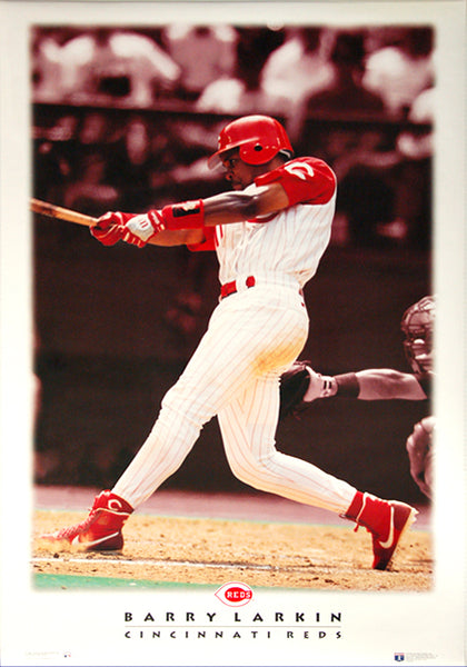 "Barry Larkin ""Diamond Classic"" Cincinnati Reds Poster - Costacos 1996"