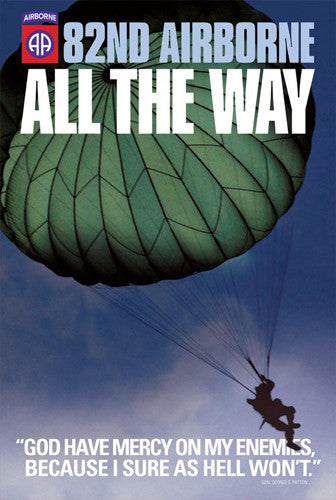 "82nd Airborne ""All the Way"" (God Have Mercy) US Army American Military Poster - American Image"
