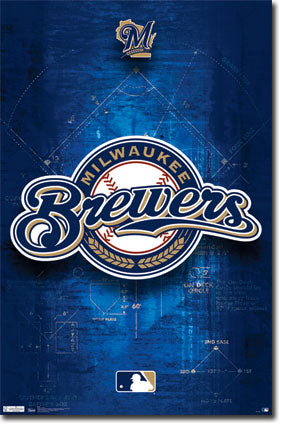 Milwaukee Brewers Official MLB Team Logo Poster - Costacos Sports