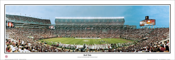 "Alabama Football ""Roll Tide"" (Bryant-Denny Stadium) Panoramic Poster Print - Everlasting"