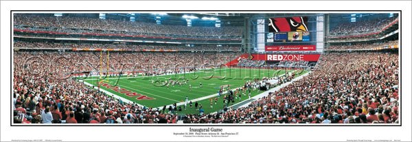 Arizona Cardinals Inaugural Game at University of Phoenix Stadium Panoramic Poster Print - Everlasting